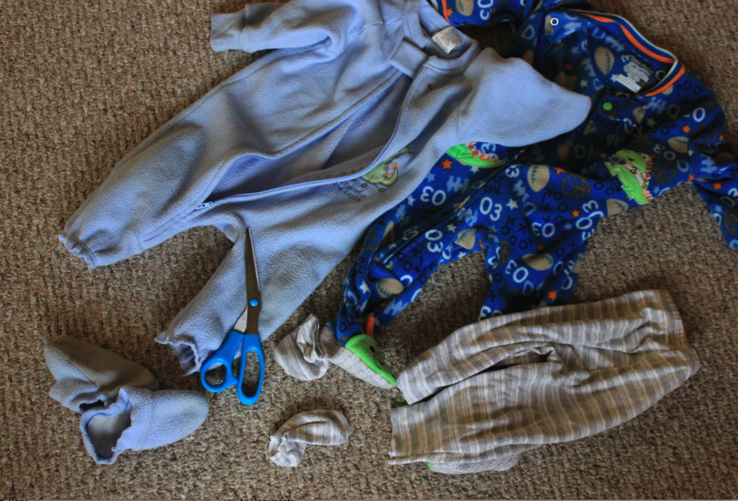 Footjob in onesie pajama