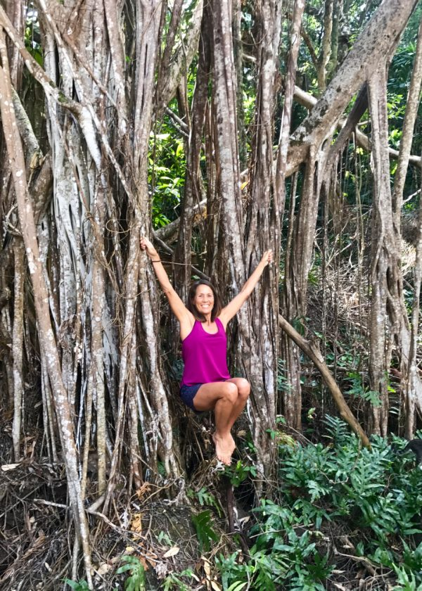 Banyon trees have the best roots for hanging & swinging around!