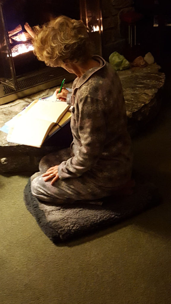 Gail C.: I do my morning study and meditation on the floor now.