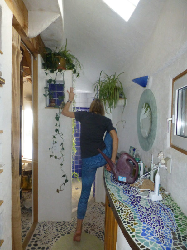 Sandy C: There's always something to do around here. Watering the house plants is a daily chore.