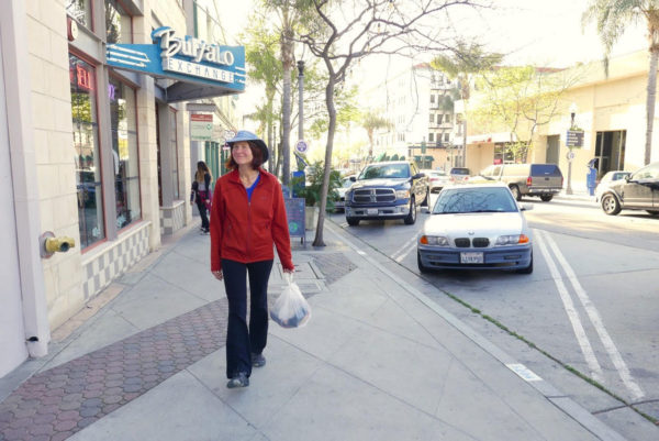 Sheila H: By walking I can slow down and appreciate our lovely downtown. On the return trip toward home I begin feeling the happy rhythm of walking and inevitably the cares of the day melt away.